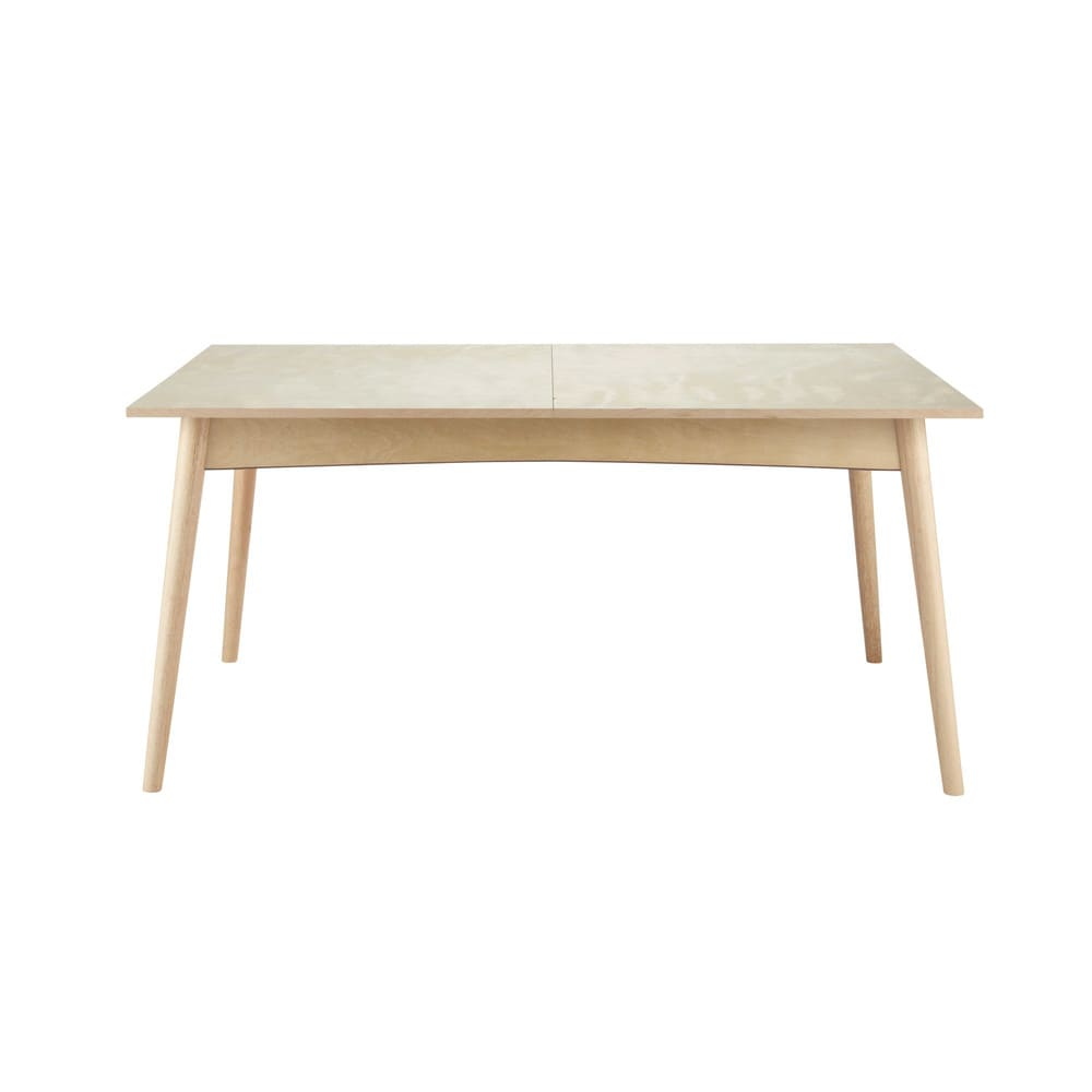 Wooden extending dining table w 160cm dekale maisons du for Maison de monde uk
