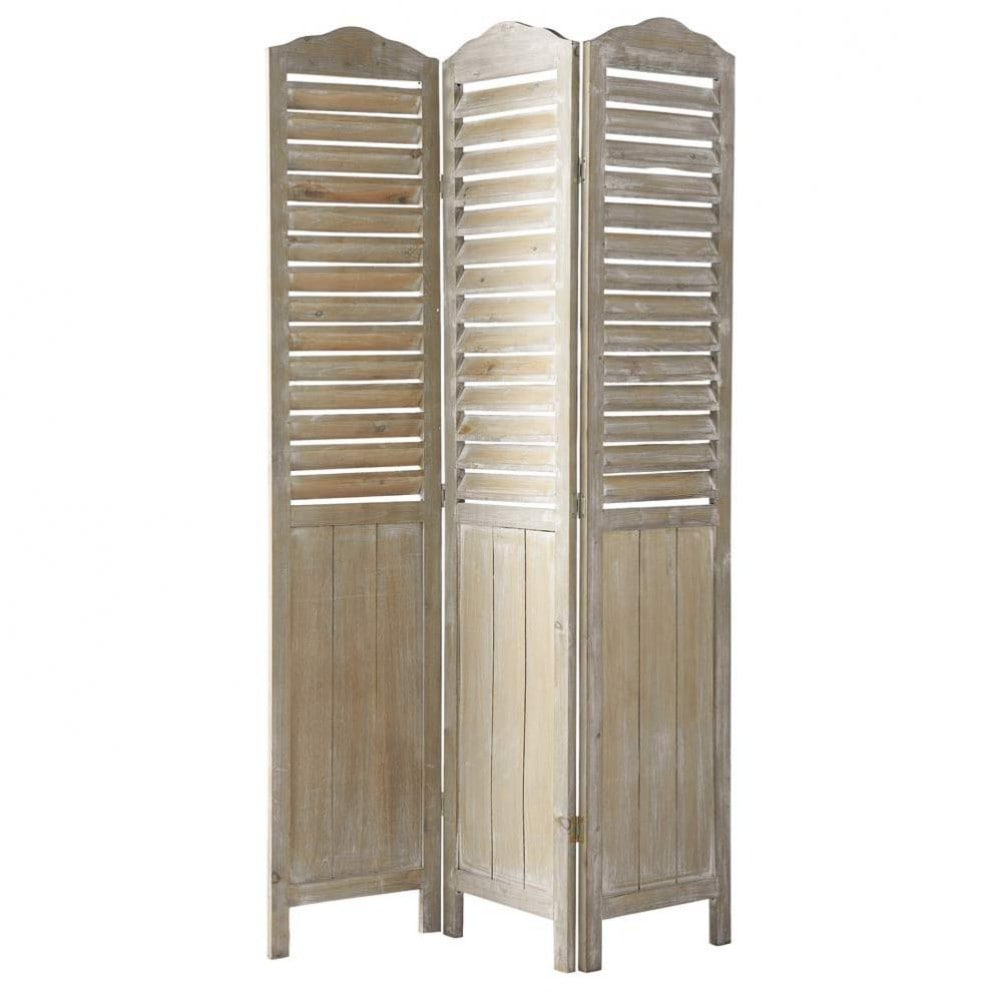Wooden folding screen w 106cm eloise maisons du monde for Maison de monde uk