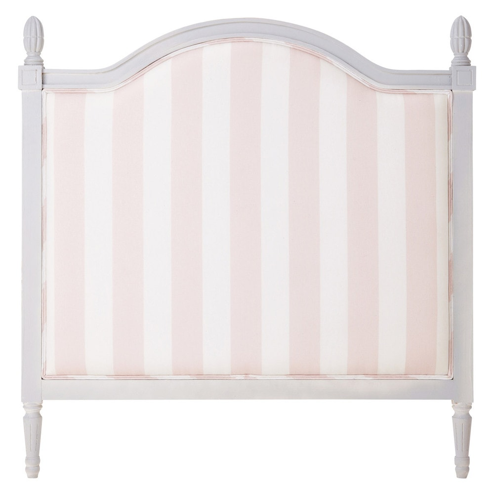 wooden headboard in pink stripe w 90cm paris mode. Black Bedroom Furniture Sets. Home Design Ideas
