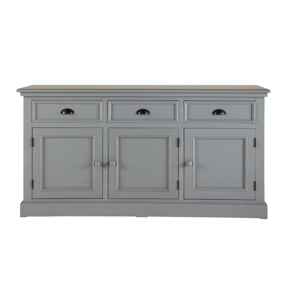 wooden sideboard in grey w 156cm newport maisons du monde