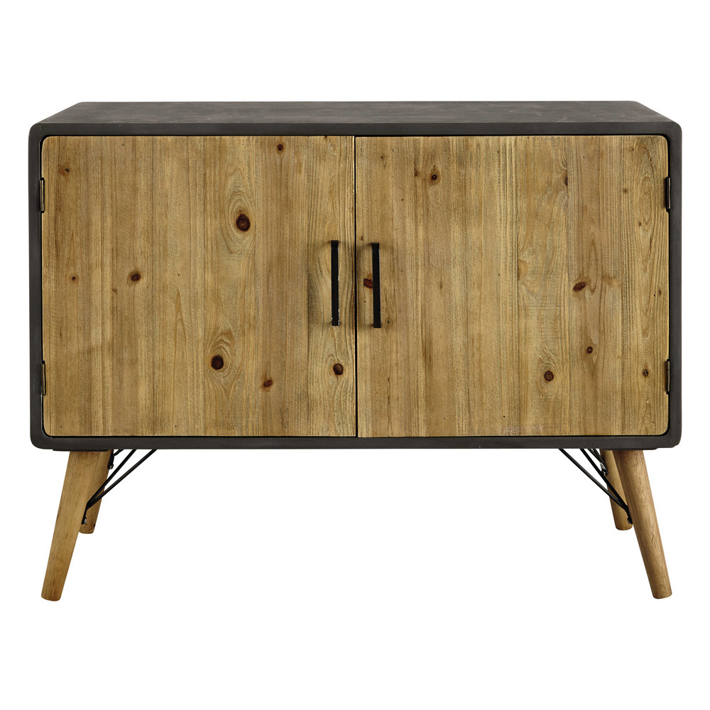 wooden sideboard w 100cm cleveland maisons du monde. Black Bedroom Furniture Sets. Home Design Ideas