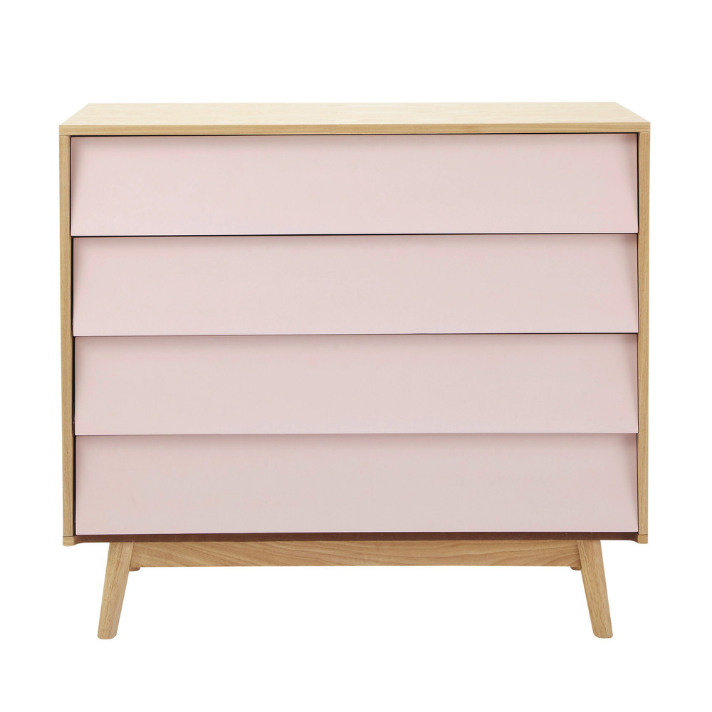 wooden vintage chest of drawers in pink w 90cm fjord maisons du monde. Black Bedroom Furniture Sets. Home Design Ideas