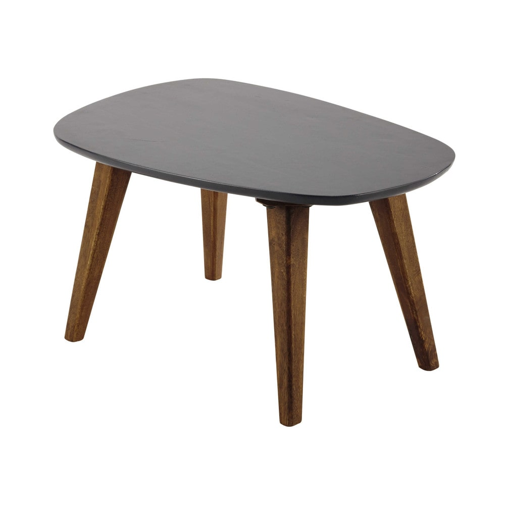 Wooden Vintage Coffee Table In Grey W 70cm Janeiro