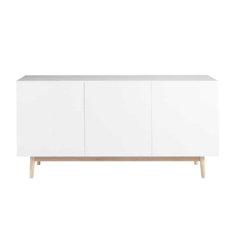 Wooden vintage sideboard in white w 160cm artic maisons for Maison de monde uk
