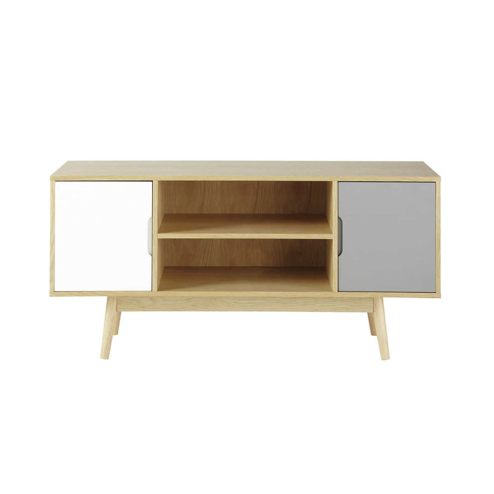 wooden vintage tv unit w 120cm fjord maisons du monde. Black Bedroom Furniture Sets. Home Design Ideas