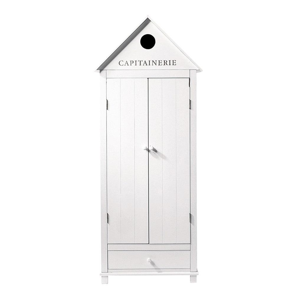 The white apron newport beach - Wooden Wardrobe In White W 74cm