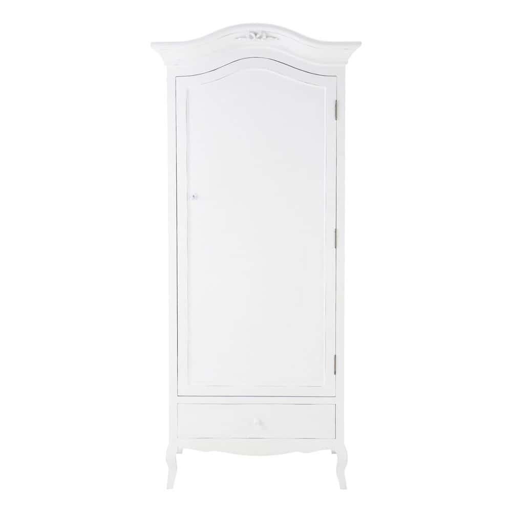 Wooden wardrobe in white w cm charlotte maisons du monde