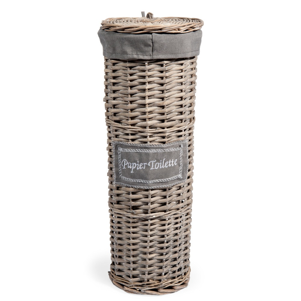 woven toilet paper basket h 47cm maisons du monde. Black Bedroom Furniture Sets. Home Design Ideas