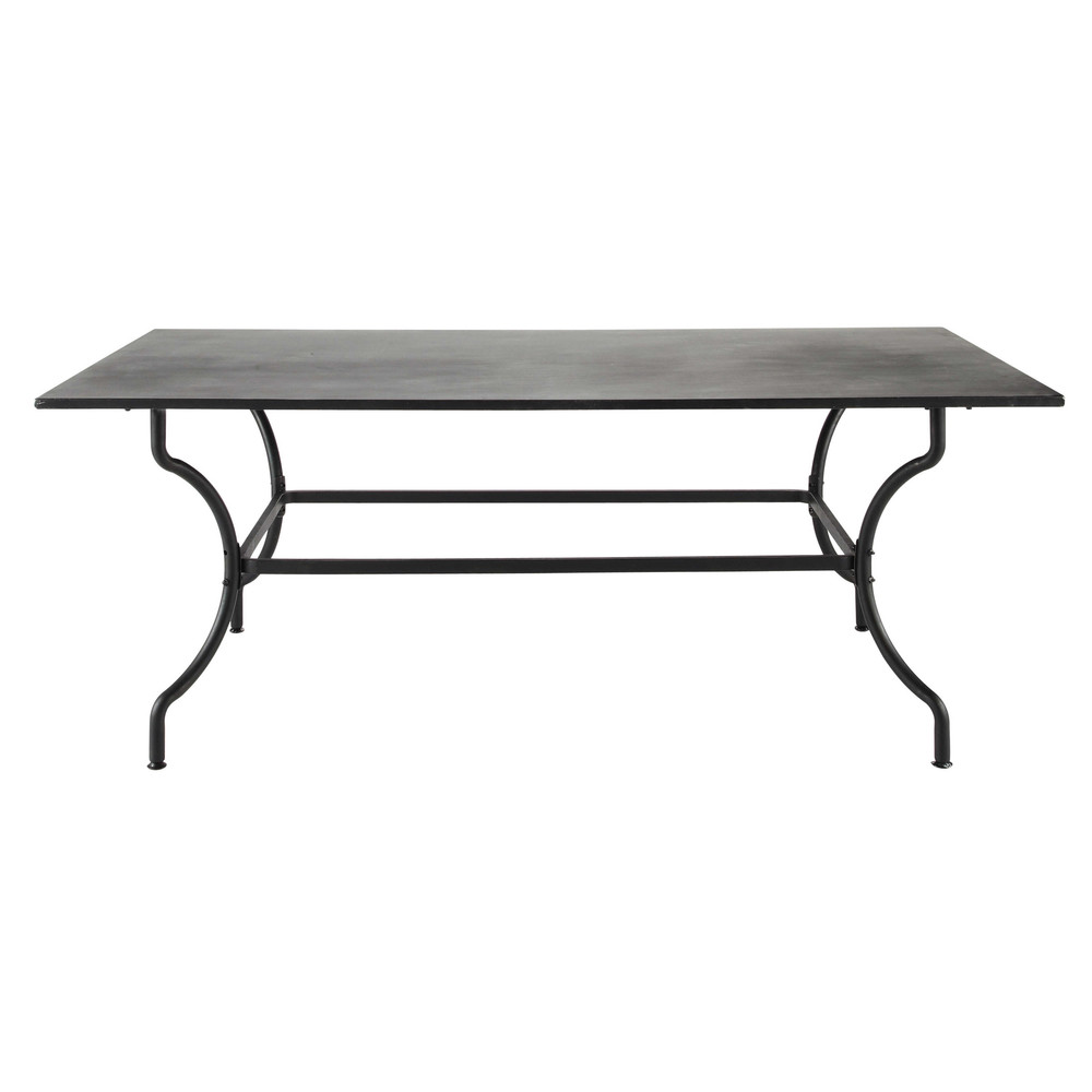 wrought iron garden table in brown w 200cm alpilles maisons du monde. Black Bedroom Furniture Sets. Home Design Ideas