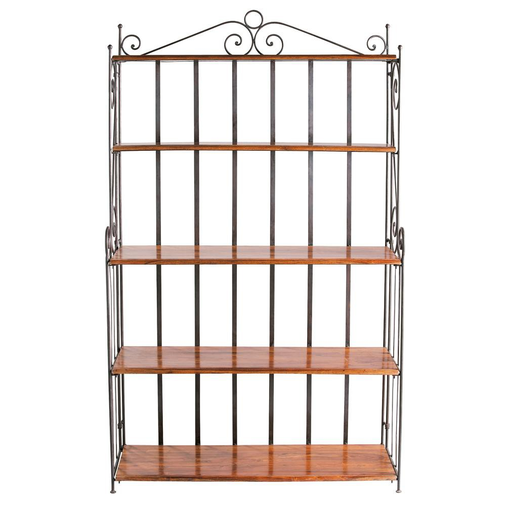 wrought iron shelf unit w 112cm lub ron maisons du monde. Black Bedroom Furniture Sets. Home Design Ideas