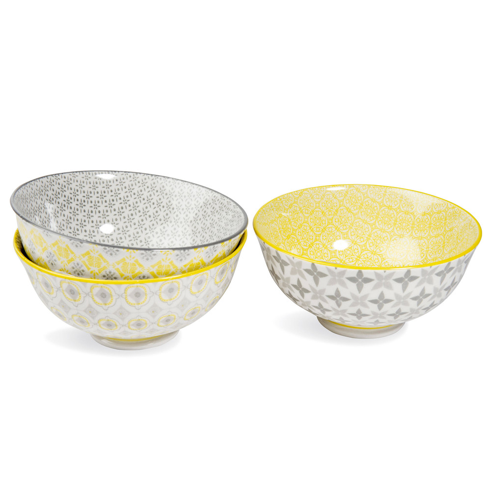 Yellow porcelain bowls yellow grey maisons du monde - Maison du monde mug ...
