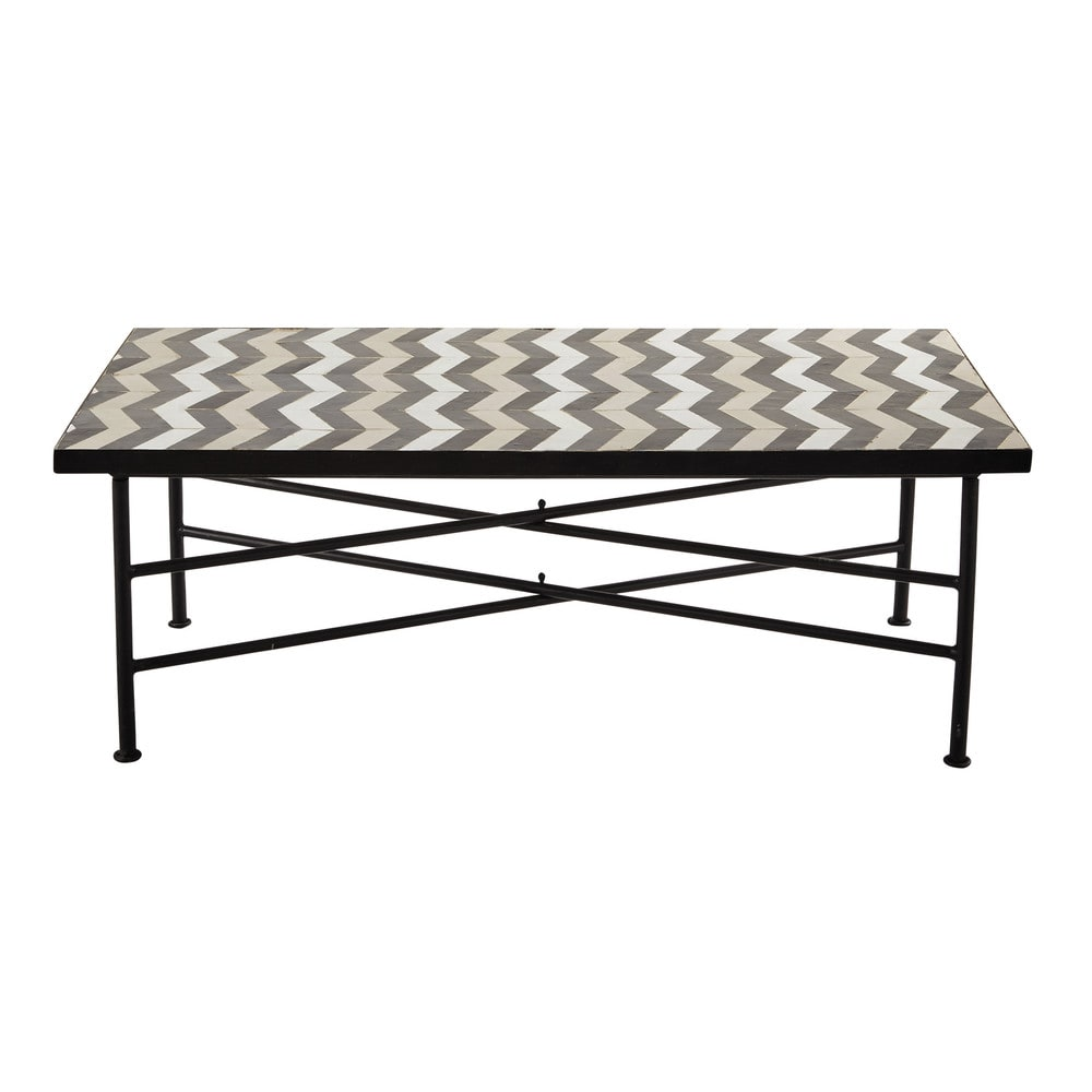 zellige tile coffee table w 110cm zelie maisons du monde. Black Bedroom Furniture Sets. Home Design Ideas