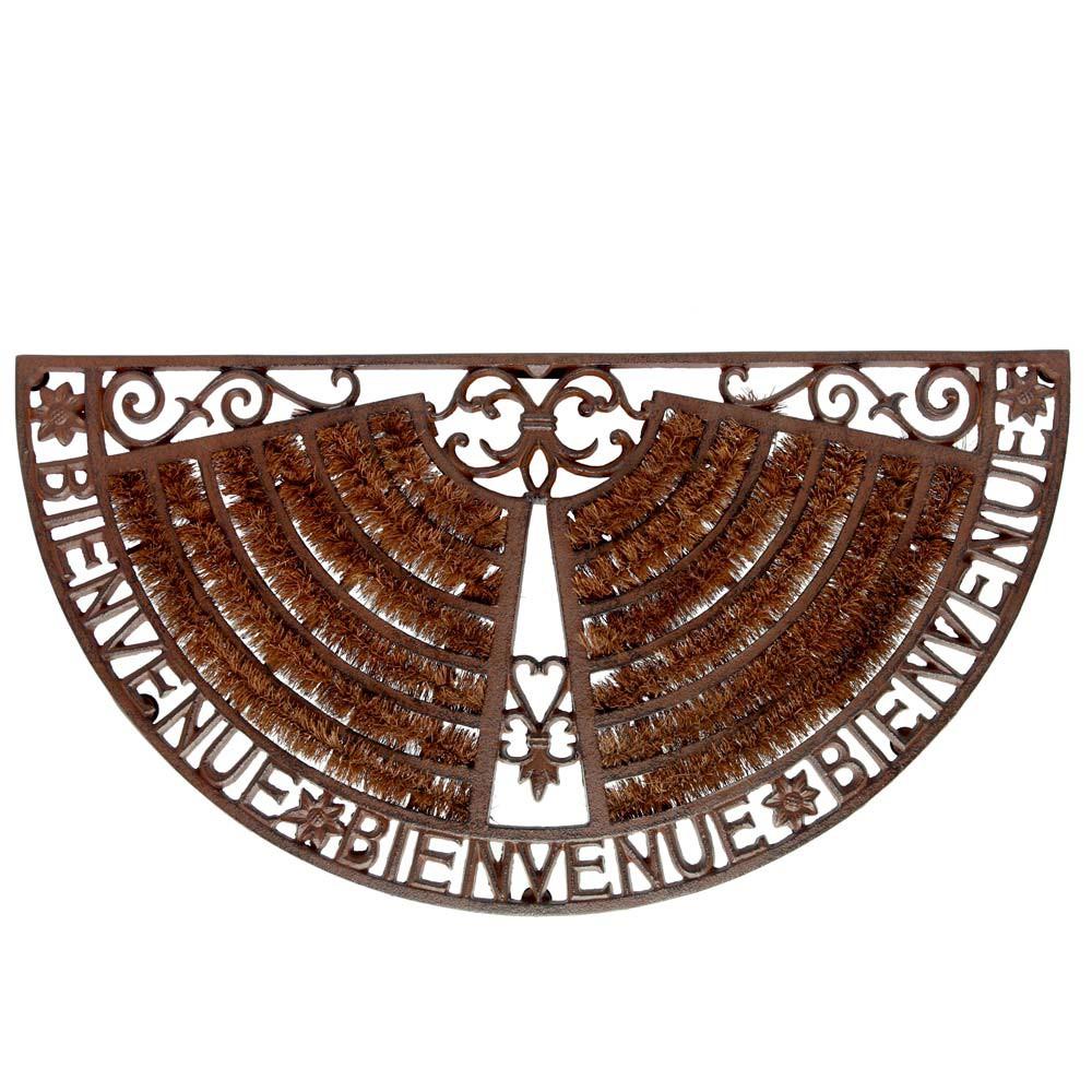 zerbino marrone in ferro battuto 37 x 70 cm welcome. Black Bedroom Furniture Sets. Home Design Ideas