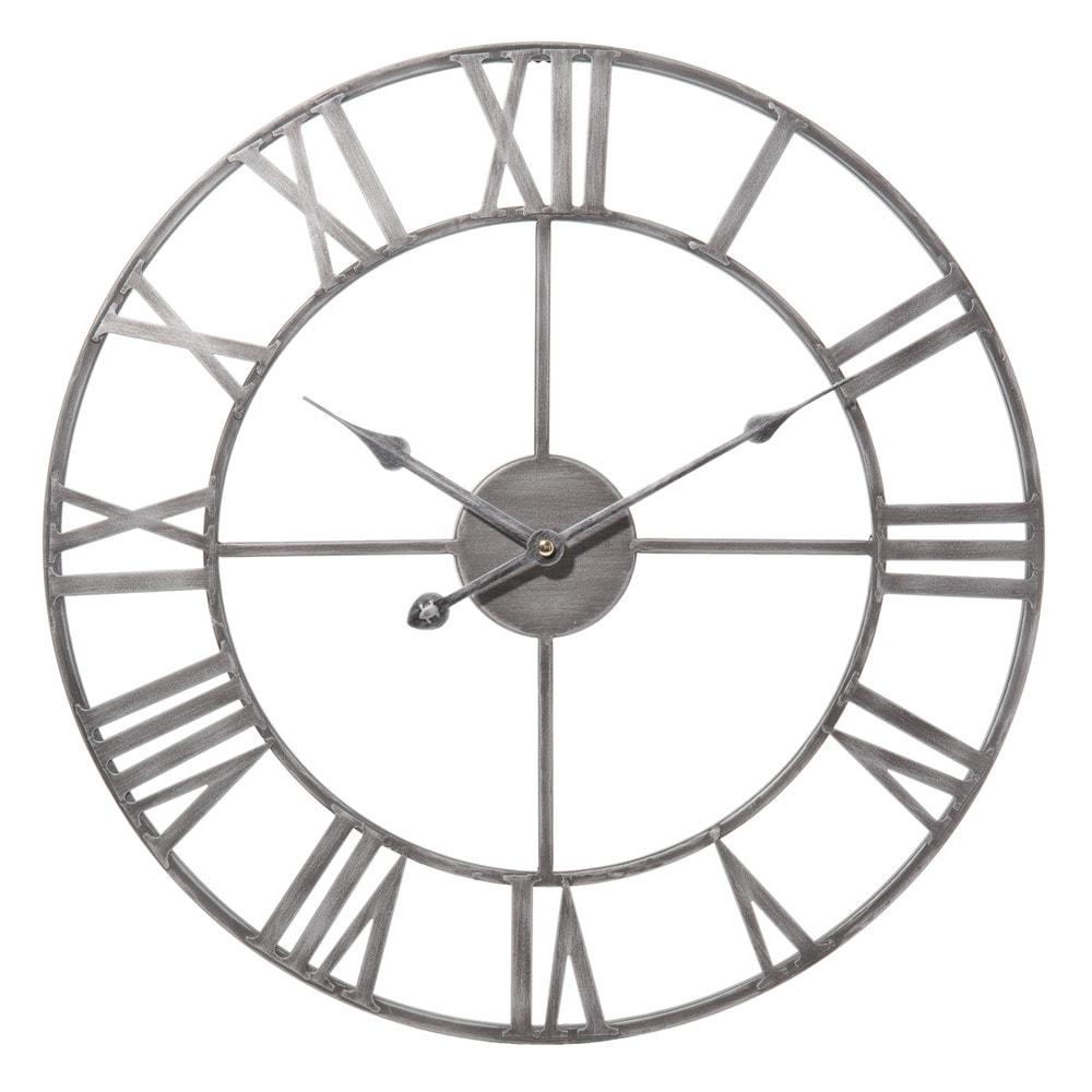 Zinc metal clock d 45cm maisons du monde - Cuisine zinc maison du monde ...