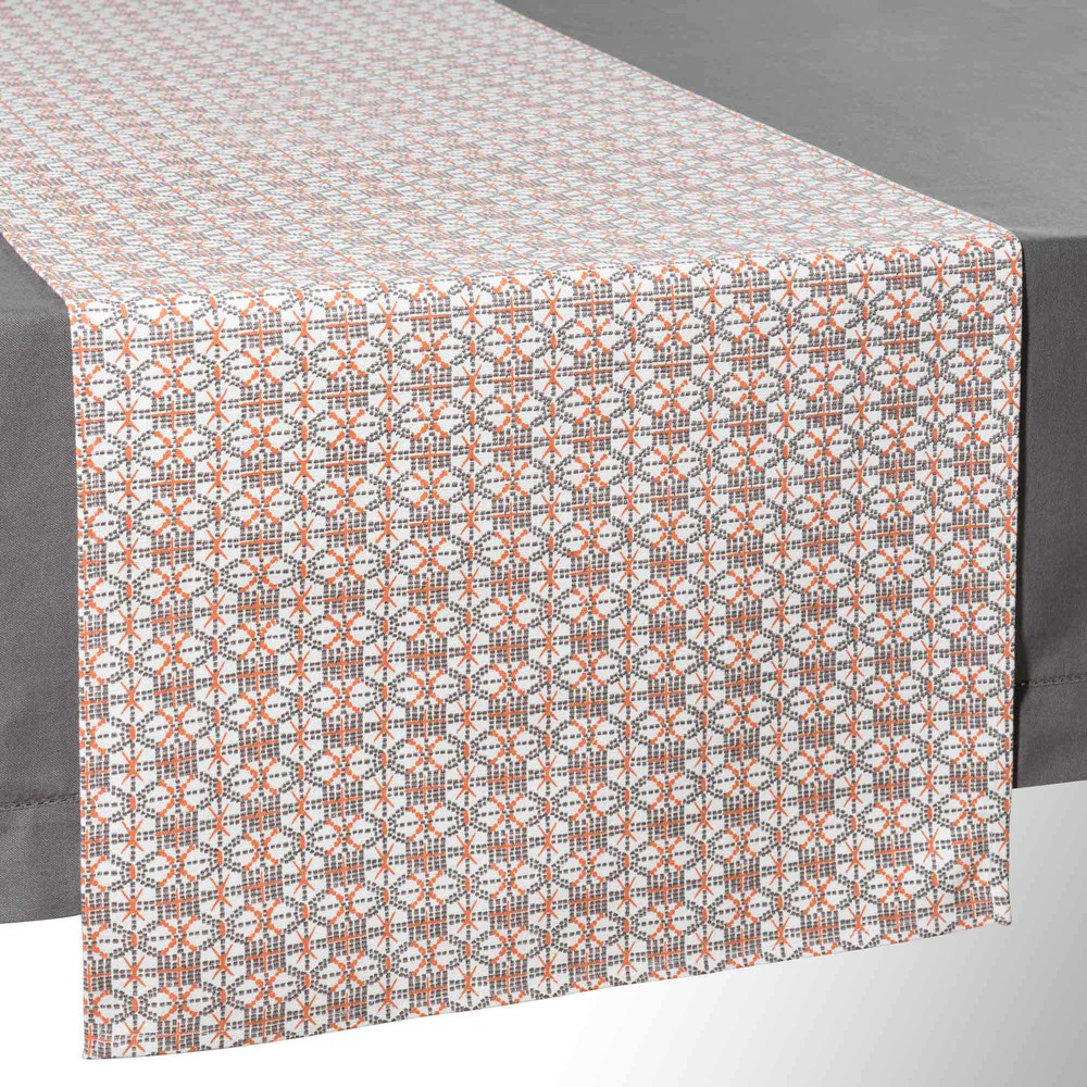 DII Lattice Cotton Table Runner for Dining Room, Foyer Table, Summer Parties and Everyday Use - 14x72