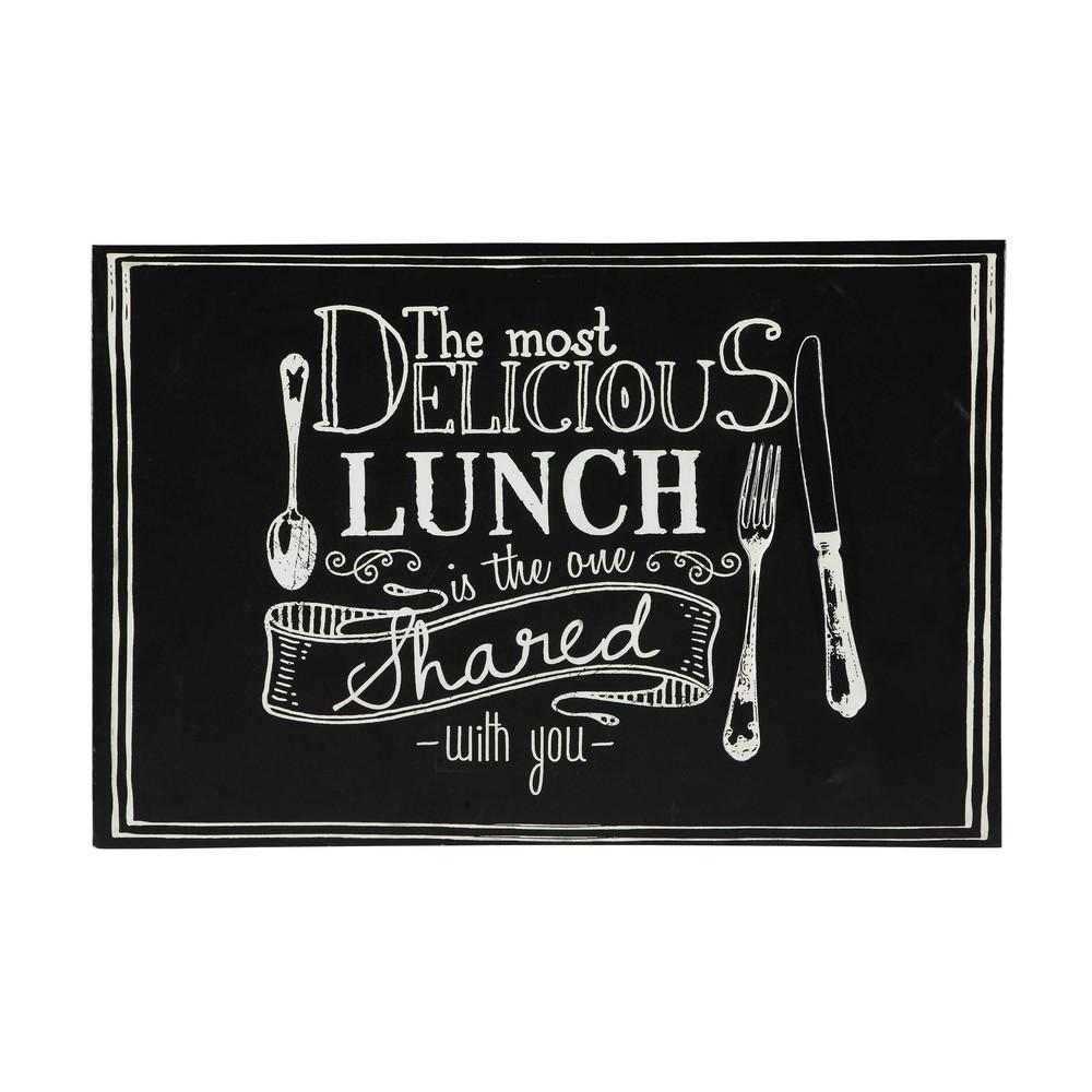 zwarte blackboard houten en metalen wanddecoratie 60 x 90