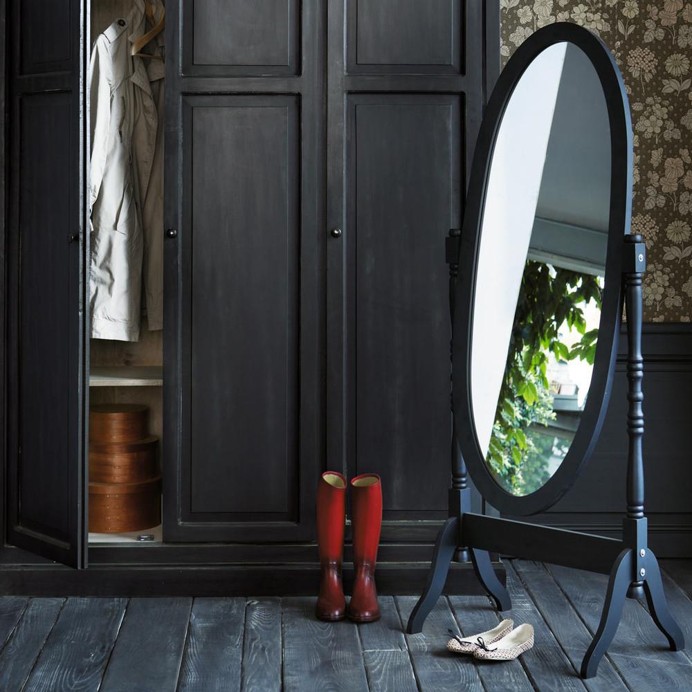 Zwarte clarence staande spiegel maisons du monde for Zwarte spiegel