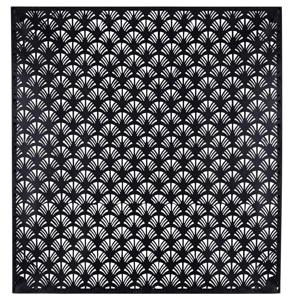 zwarte metalen muurdecoratie 99 x 99 cm hammamet